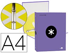 Antartik - Classeur à anneaux - Dos 25 mm - A4 - violet
