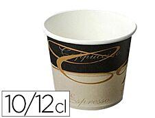 Coldis - 100 Gobelets café décorés - 10/12 cl - jetables