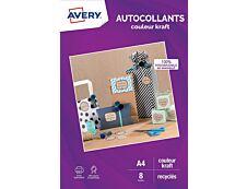 Avery - Autocollants kraft - 8 feuilles A4