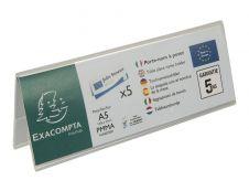 Exacompta - 5 Porte-noms double face - pour 210 x 75 mm