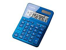 calculatrice de bureau Canon LS- 123K - 12 chiffres - alimentation batterie et solaire - bleu