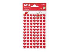 Apli Kids - Stickers feutrine cœurs rouges