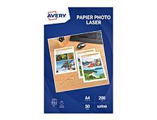 Avery - Papier Photo brillant recto/verso - A4 - 200 g/m² - impression laser - 50 feuilles