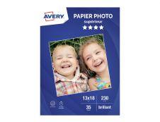 Avery - Papier Photo brillant - 13 x 18 cm - 230 g/m² - impression jet d'encre - 35 feuilles