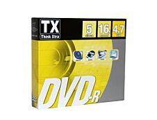 Think Extra - 5 DVD-R avec boîtiers slim - 4,7 Go