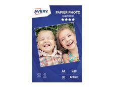 Avery - Papier Photo brillant - A4 - 230 g/m² - impression jet d'encre - 35 feuilles