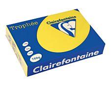Clairefontaine Trophée - Papier couleur - A4 (210 x 297 mm) - 160 g/m² - 250 feuilles - jaune soleil