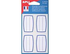 Apli Agipa - 32 Étiquettes scolaires cadre et lignes bleus - 33 x 53 mm - réf 111934