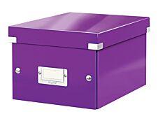 Leitz Click & Store - Boîte de rangement A5 - violet métallisé