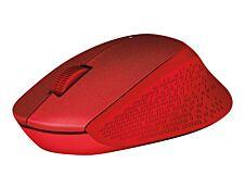 Logitech M330 - souris sans fil silencieuse - rouge