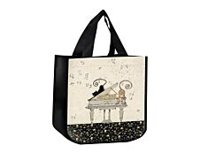 Kiub Bug Art - Sac cabas - Chat et piano