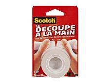 """Scotch Crystal - Ruban adhésif """"Se découpe à la main"""" - 19mm x 25m"""