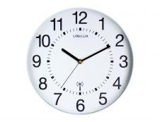 Unilux - Horloge Wave - mécanisme radio pilotée - 30 cm - blanc