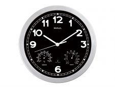 MaulDrive - Horloge - mécanisme radio pilotée - 30 cm - noir argenté