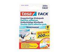 Tesa Tack - 200 pastilles adhésives transparentes - double face