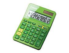 Calculatrice de bureau Canon LS- 123K - 12 chiffres - alimentation batterie et solaire - vert