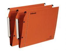 Esselte VisioPlus - 10 Dossiers suspendus pour armoires - orange - fond 15 et 30 mm