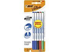 BIC VELLEDA 1721 - Pack de 5 marqueurs effaçables - pointe fine - couleurs assorties