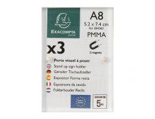 Exacompta - Porte-visuel fermeture magnétique - A8 - double face