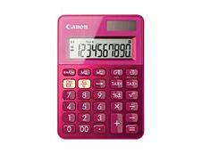 calculatrice de bureau Canon LS-100K - 10 chiffres - alimentation batterie et solaire - rose