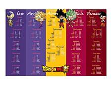 Clairefontaine Dragon Ball - Sous-main tables de multiplication et conjugaison