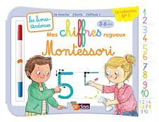 Livres-ardoises - Mes chiffres rugueux Montessori - 3 à 6 ans - editions bordas 2019