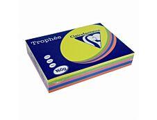 Clairefontaine Trophée - Papier couleur - A4 (210 x 297 mm) - 160 g/m² - 250 feuilles - coloris assortis