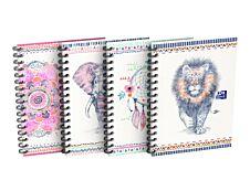 Oxford Boho Chic - Carnet de notes à spirale A6 - 100 pages - petits carreaux