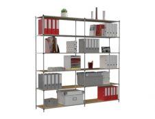 Paperflow Tubeco - Rack à étagère - rayonnage de bureau 6 niveaux - élément suivant - 200 x 100 x 34 cm