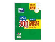 Oxford - 300 copies doubles A4 - petits carreaux (5x5 mm) - perforées