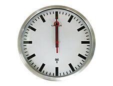 Unilux - Horloge Station - mécanisme radio pilotée - 35 cm - gris métal