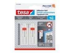 TesaPowerstrips - Pack de 2 clous adhésifs - blanc - résistance 1 kg