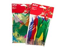 Apli - 100 plumes - coloris assortis