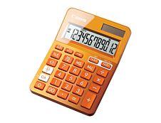 Calculatrice de bureau Canon LS- 123K - 12 chiffres - alimentation batterie et solaire - orange