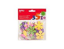 Apli - Sachet de gommettes en mousse - fleurs
