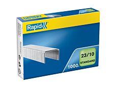Rapid - Boîte de 1000 Agrafes 23/10 - jusqu'à 70 feuilles - acier galvanisé