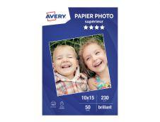 Avery - Papier Photo brillant - 10 x 15 cm - 230 g/m² - impression jet d'encre - 50 feuilles