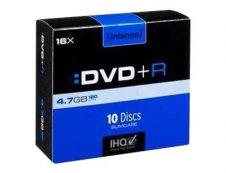 Intenso - pack de 10 DVD+R x16 avec boitier slim - 4.7 Go