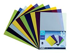 Viquel - 10 Pochettes coin - A4 - pour 25 feuilles - 13/100 - couleurs assorties