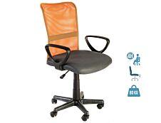 Fauteuil de bureau junior SAMARA - accoudoirs fixes - gris/orange