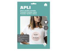 Apli - Papier transfert sur textiles clairs 10 feuilles A4 - Réf. 4128