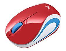 Logitech M187 - Mini souris sans fil -  rouge