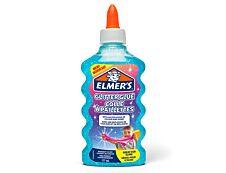 Elmers - Colle pailletée pour slime bleue - 177ml