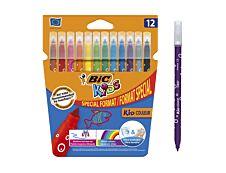 BIC Kids Couleur - 12 Feutres format spécial