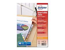 Avery - Pochette intercalaire 12 positions - A4 Maxi - polypropylène