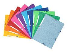 Exacompta Nature Future - 10 Chemises à 3 rabats - A4 - pour 250 feuilles - couleurs vives assorties