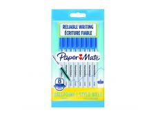 Paper Mate 045 - 8 Stylos à bille - bleu