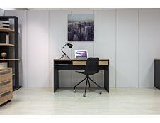 Bureau ARCADE - 126 cm - avec tiroir et niche - chêne/anthracite