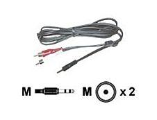 MCL Samar - adaptateur audio/stéréo 2 prises RCA (M) vers JACK 3.5 (M) - 1,5 m