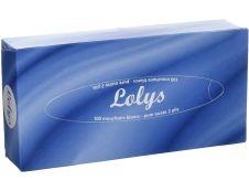 Boîte de 100 mouchoirs Lolys - blanc - 2 plis